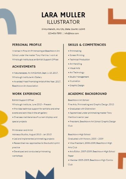 Cute Resume Templates from static.fotor.com.cn