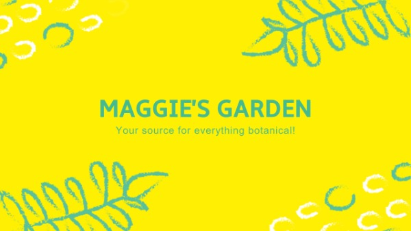 黄色植物园主题封面