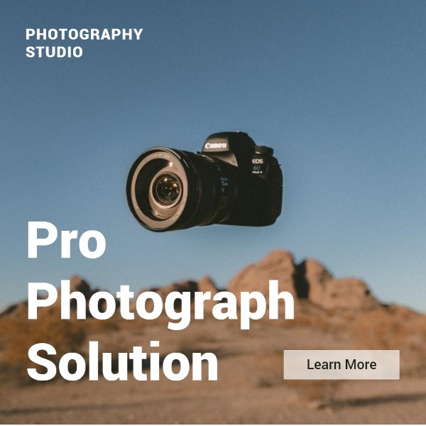 Professional Photography Studio Instagram Post