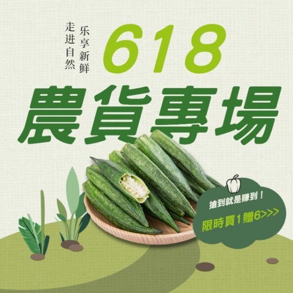 618电商农产品促销折扣优惠