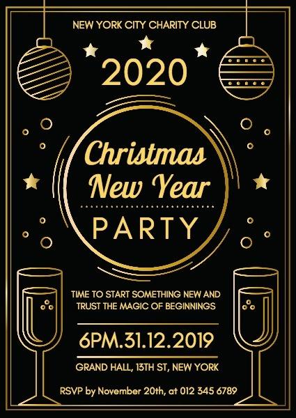 慈善组织新年晚会邀请