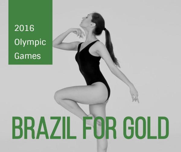 绿色奥运会主题海报