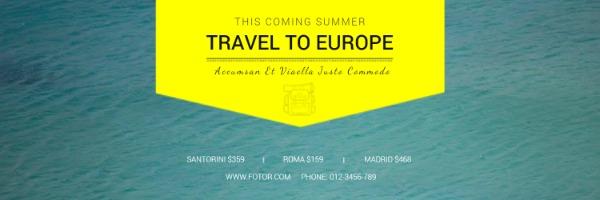 绿色夏日旅游封面
