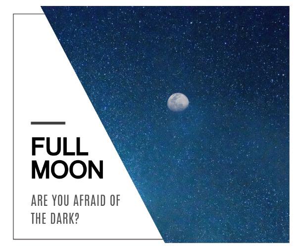藍色滿月主題海報