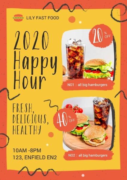 汉堡汉堡美食促销折扣活动