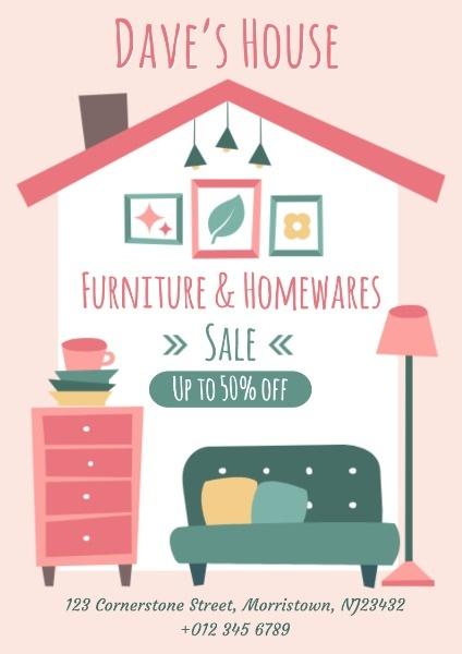 家具英文海报