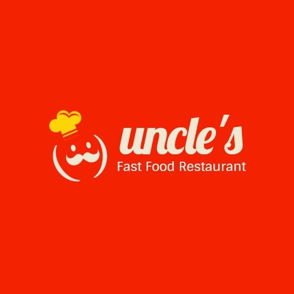 紅色卡通西式快餐