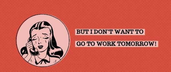 不想上班真的