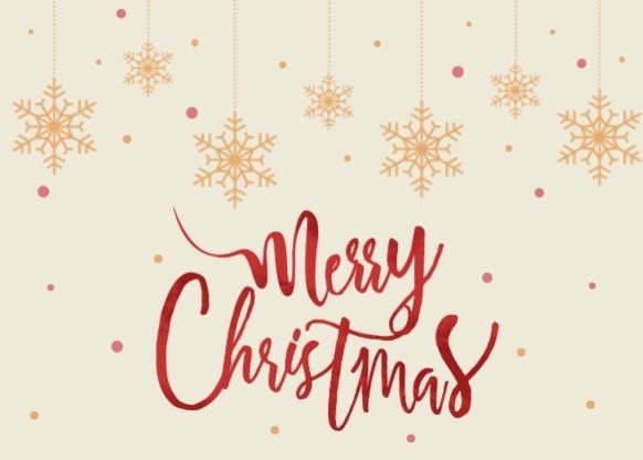 圣诞节平安夜祝福雪花质感插画黄色