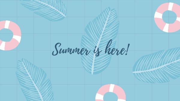 夏天夏季电脑壁纸模板
