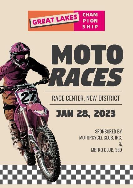 Retro Motorcycle Racing Game