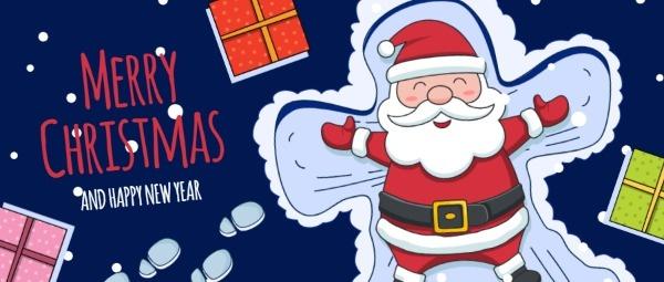 圣诞节雪地圣诞老人