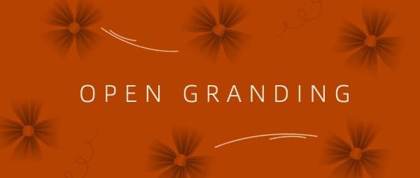 橙色简约商业开业