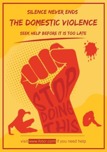 英文海报-防止家暴