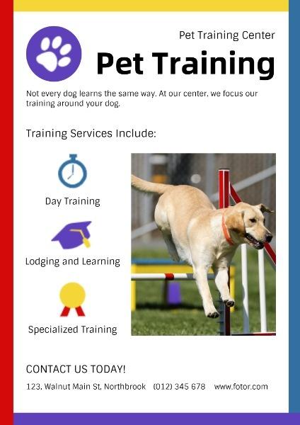 White Pet Training Ads