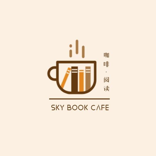 矢量卡通咖啡书店