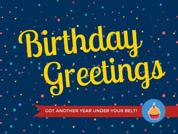 生日快乐祝福蛋糕波点蓝色卡通
