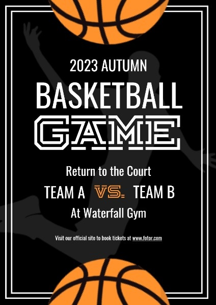 Black And Yellow Basketball Game Event