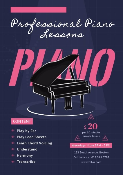专业钢琴课