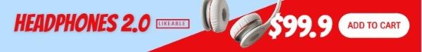 红蓝耳机广告