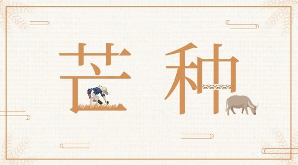 四月二十三传统二十四节气芒种