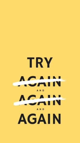 黄色励志激励鼓励理想简约尝试