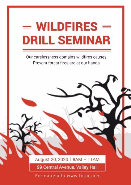 PreventForestFire预防森林火灾海报