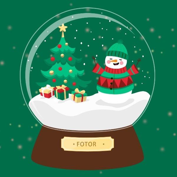 圣诞节主题水晶球