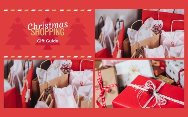圣诞节礼物购物袋