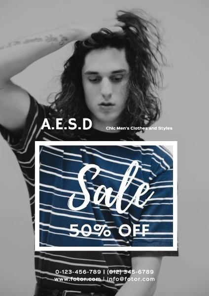 Men Clothes Sale Promotion