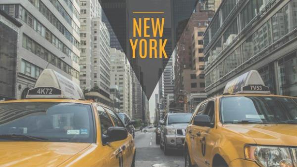 橙色纽约城市主题封面