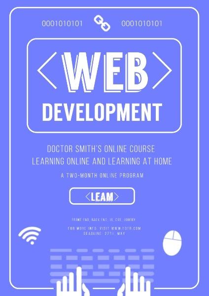 蓝色简约网络技术课程