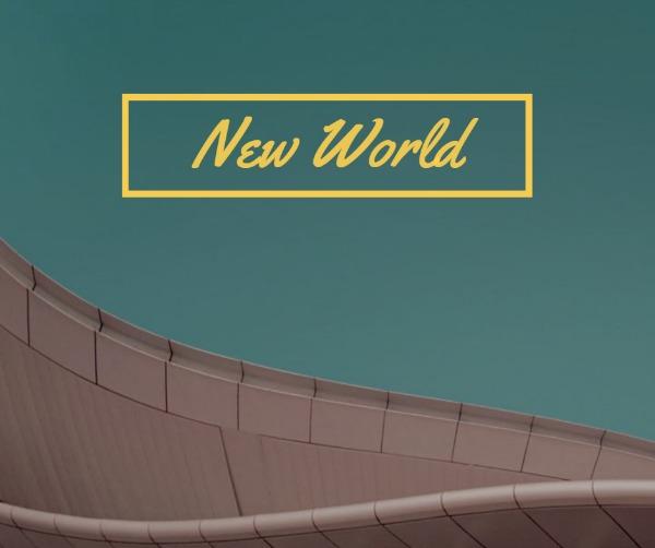 绿色简约新世界主题海报