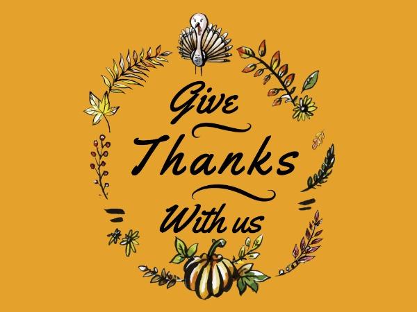 感恩节快乐祝愿白孔雀黄色手绘