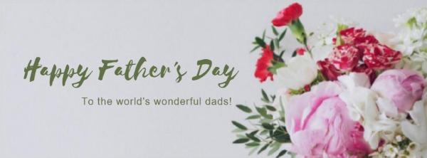 白色父亲节主题封面