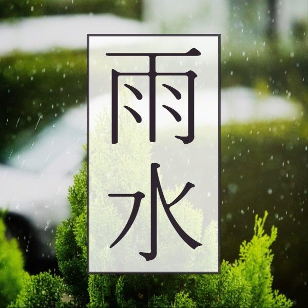 绿色植物雨水矢量图