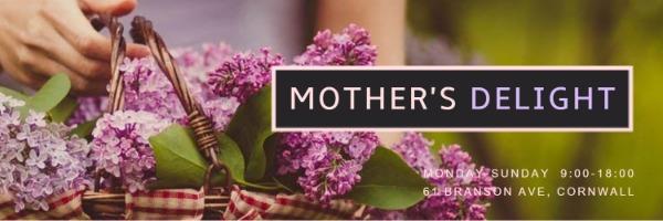 红色温馨母亲节推特封面
