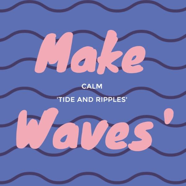 紫色卡通波浪设计感海报