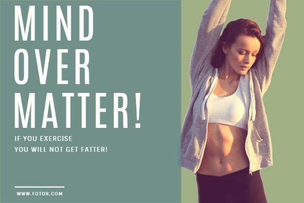 如果你坚持运动就不会长胖