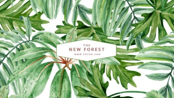 绿色森林主题封面