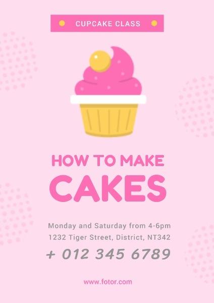 烘焙课程面包蛋糕DIY海报