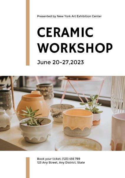 Simple Ceramic Workshop Display Poster