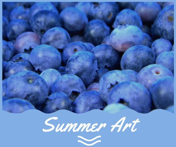 紫色夏季蓝莓主题海报