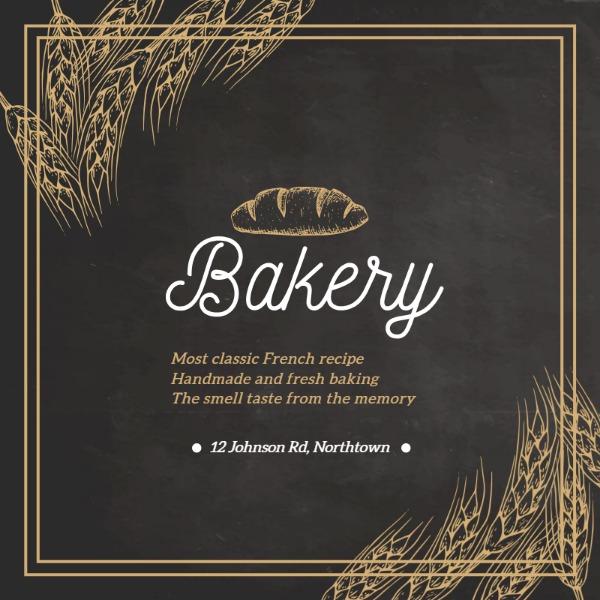 褐色面包烘焙主题海报