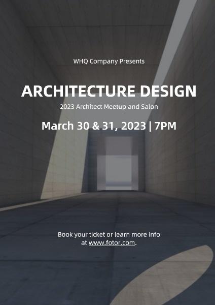 Architecture Design Event Poster