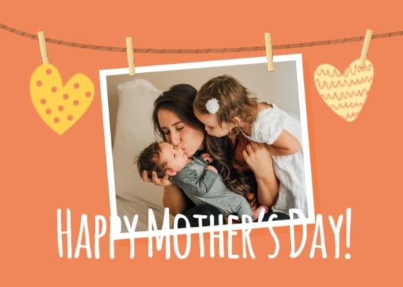 母亲节快乐亲子照片