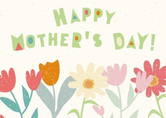 母亲节快乐祝福小花