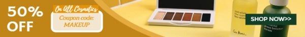黄色化妆品广告