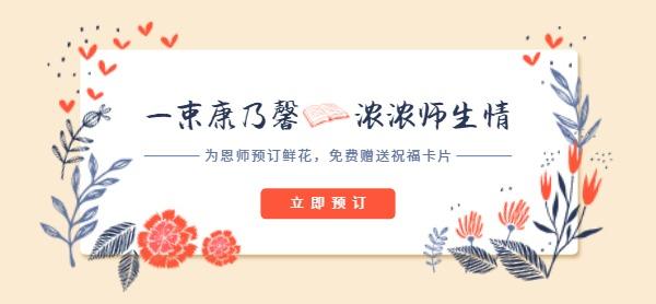 教师节花店康乃馨促销活动
