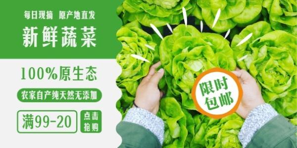 蔬菜促销banner